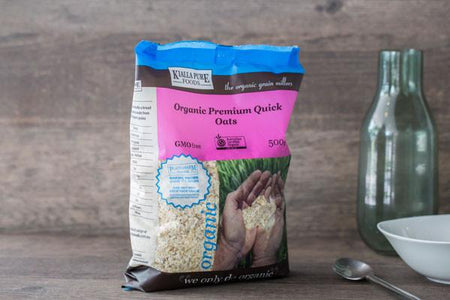 Kialla Pure Foods Organic Premium Quick Oats 500g Pantry > Granola, Cereal, Oats & Bars