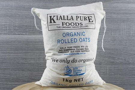 Kialla Pure Foods Organic Rolled Oats 1kg Pantry > Granola, Cereal, Oats & Bars
