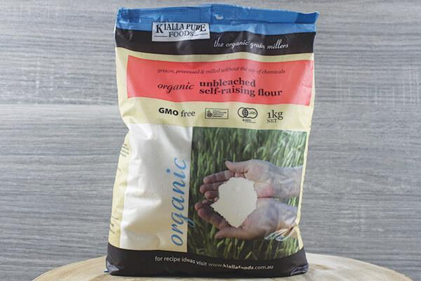 Kialla Pure Foods Organic Unbleached Self Raising Flour (Hero) 1kg Pantry > Baking & Cooking Ingredients