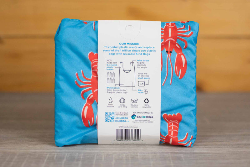 Kind Bag London Lobster Reusable Shopping Kind Bag Household > Bags