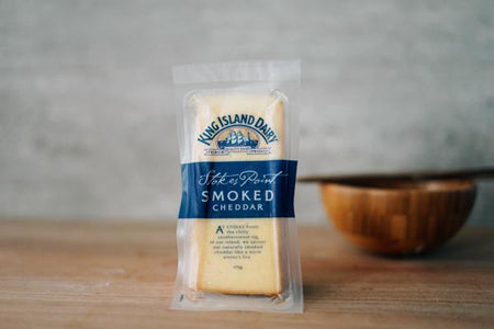 King Island Smoked Cheddar Wedge Cheese 170g Dairy & Eggs > Cheese