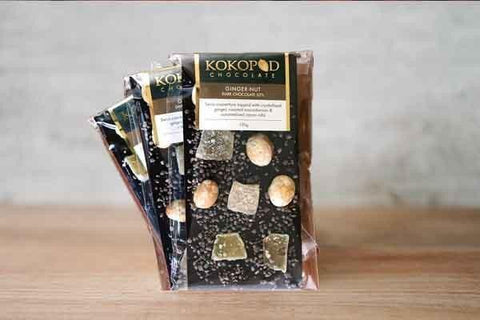Kokopod Chocolate Ginger Nut 52% Dark Chocolate 120g Pantry > Confectionery