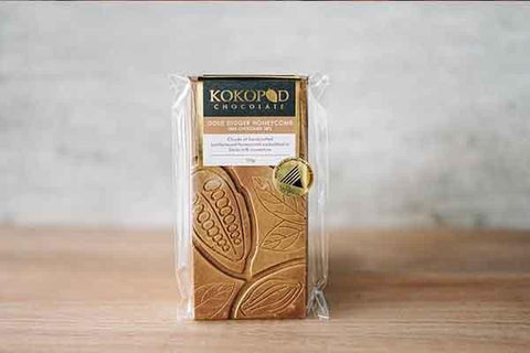 Kokopod Chocolate Gold Digger Honeycomb Milk Chocolate 38% 100g Pantry > Confectionery