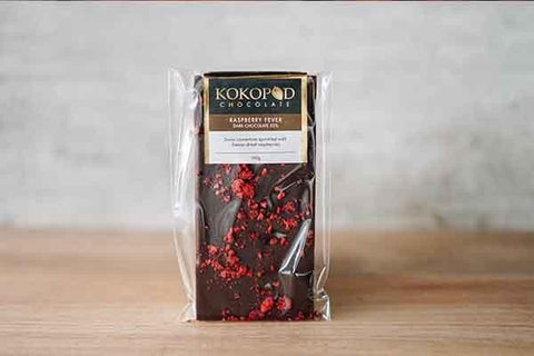 Kokopod Chocolate Raspberry Fever 52% Dark Chocolate Pantry > Confectionery