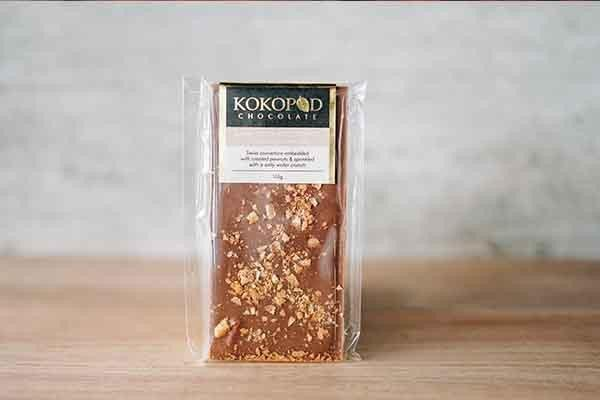 Kokopod Chocolate Salty Caramel Crunch Chocolate 100g Pantry > Confectionery