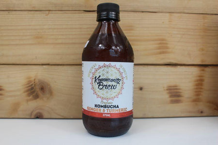 Kommunity Brew Ginger & Turmeric Org Kombucha 375ml Drinks > Juice, Smoothies & More