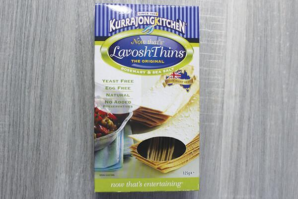 Kurrajong Kitchen Rosemary & Sea Salt Lavosh Thins 125g Pantry > Biscuits, Crackers & Cripsbreads