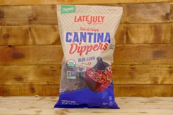 Late July Cantina Dippers Blue Corn Tortilla Chips 8oz Pantry > Cookies, Chips & Snacks