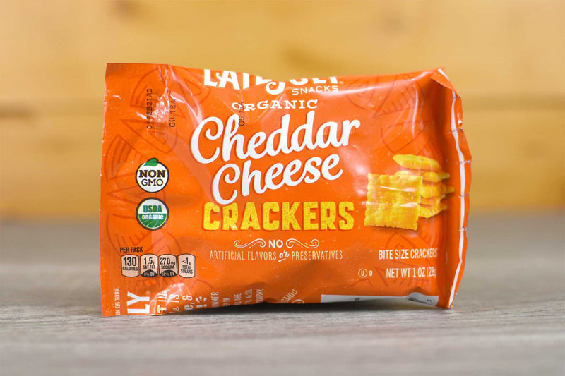 Late July Organic Cheddar Crackers Snack Pack 1oz Pantry > Chips & Savoury Snacks