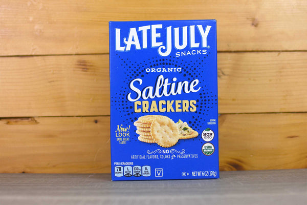 Late July Organic Saltine Crackers 170g Pantry > Crackers & Crispbreads