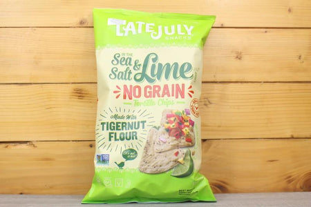 Late July Sea Salt Lime No Grain Tortilla Chips 156g Pantry > Chips & Savoury Snacks