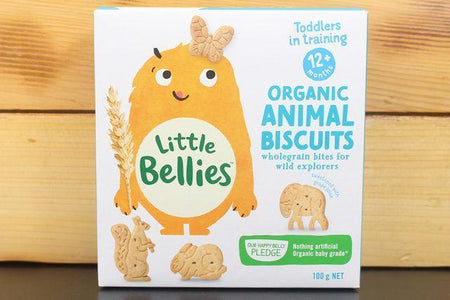 Little Bellies Little Bellies Animal Biscuits 100g Pantry > Baby Food & Kids Corner