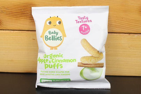 Little Bellies Little Bellies Apple & Cinnamon Puffs 12g Pantry > Baby Food & Kids Corner