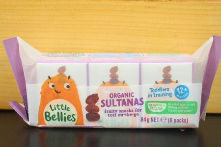 Little Bellies Little Bellies Org Sultanas 84g Pantry > Baby Food & Kids Corner