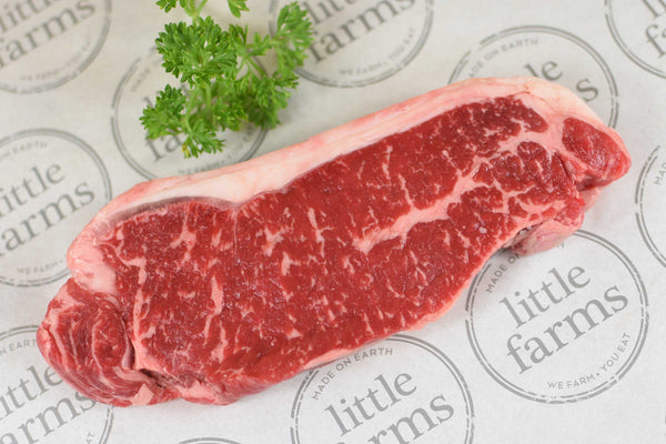 Little Farms ACCO Wagyu Beef Striploin MBS4 ∼300g Meat > Beef