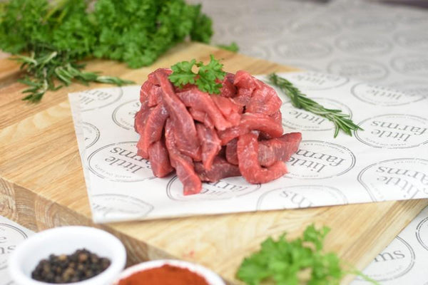 Little Farms King Island Stir Fry Beef 250g Meat > Beef
