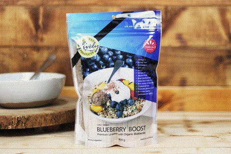 Lively Linseed Products Blueberry Boost 400g Pantry > Granola, Cereal, Oats & Bars