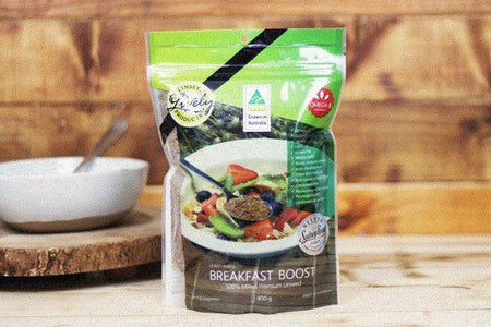 Lively Linseed Products Breakfast Boost 400g Pantry > Granola, Cereal, Oats & Bars