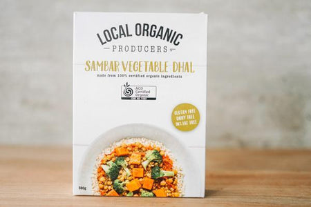 Local Organic Producers Sambar Vegetable Dhal Freezer > Ready-Made Meals
