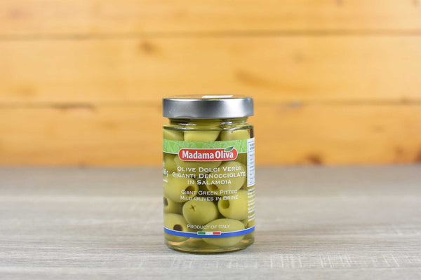 Madama Oliva Giant Green Pitted Olives 160g Pantry > Antipasto, Pickles & Olives