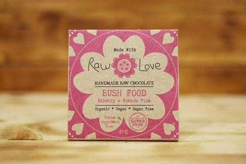 Made with Raw Love Organic Bush Food Raw Chocolate 40g Pantry > Confectionery
