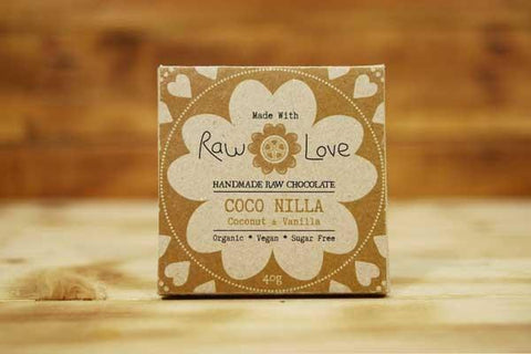 Made with Raw Love Organic Coco Nilla Raw Chocolate 40g Pantry > Confectionery
