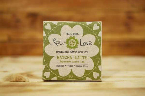 Made with Raw Love Organic Matcha Latte Bar Raw Chocolate 40g Pantry > Confectionery