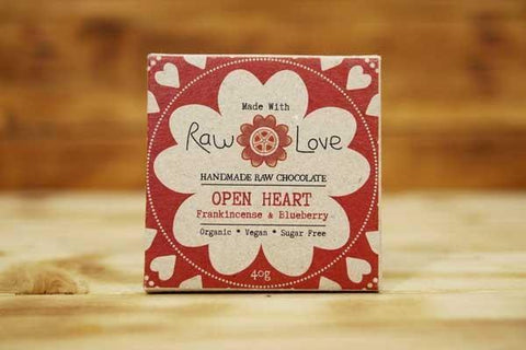 Made with Raw Love Organic Open Heart Bar Raw Chocolate 40g Pantry > Confectionery