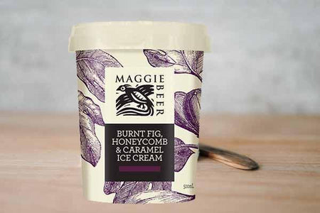 Maggie Beer Burnt Fig Honeycomb & Caramel Ice Cream 500ml Freezer > Ice Cream