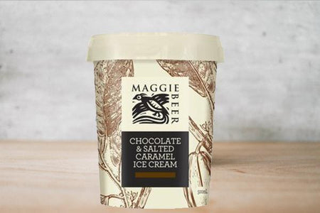 Maggie Beer Chocolate & Salted Caramel Ice Cream 500ml Freezer > Ice Cream