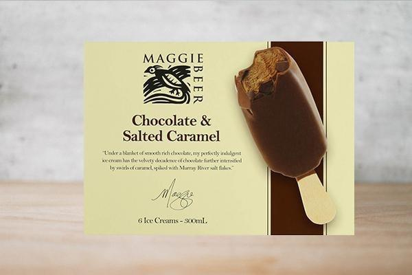Maggie Beer Chocolate & Salted Caramel Ice Cream Stick 6 x 50ml Freezer > Ice Cream