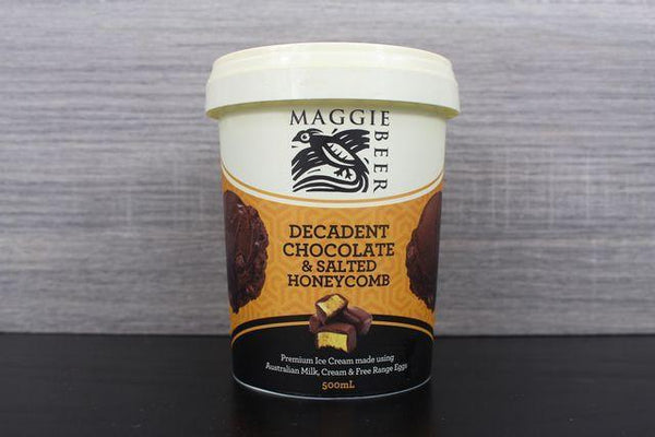 Maggie Beer Decadent Chocolate & Salted Honeycomb 500ml Freezer > Ice Cream