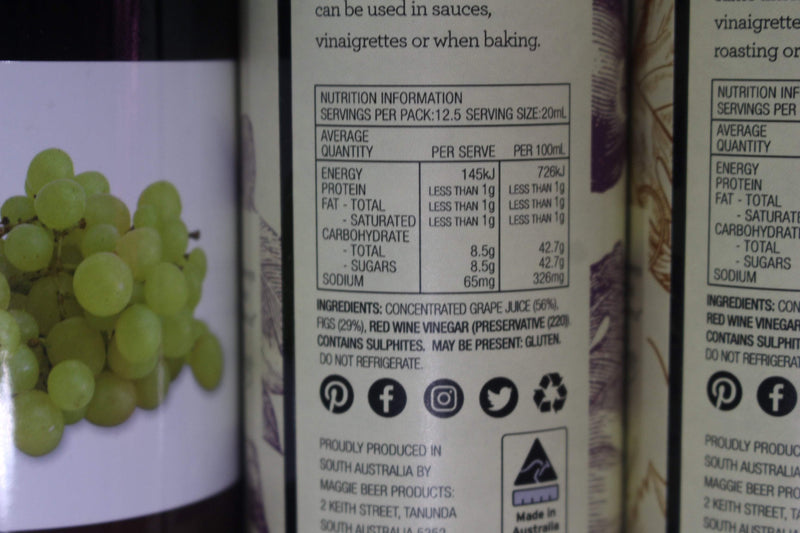 Maggie Beer Fig Vino Cotto Oil 250ml Pantry > Dressings, Oils & Vinegars