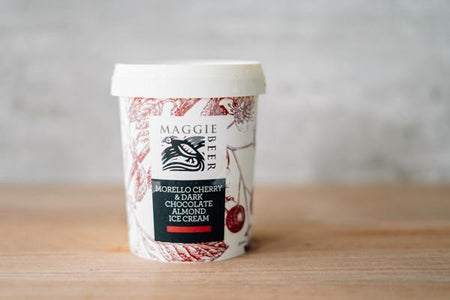 Maggie Beer Morello Cherry & Dark Chocolate Almond Ice Cream 500ml Freezer > Ice Cream