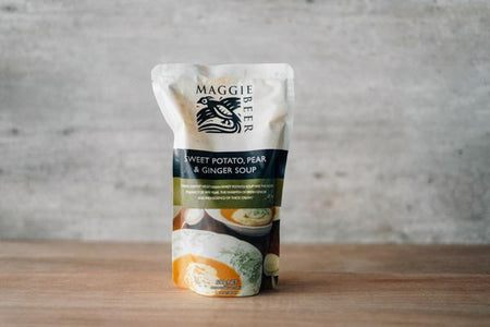 Maggie Beer Sweet Potato Pear and Ginger Soup 500g Pantry > Broths, Soups & Stocks