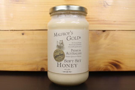 Malfroys Gold Pure Blend Soft Set Honey 400g Pantry > Nut Butters, Honey & Jam