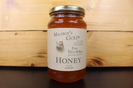 Malfroys Gold Yellow Box Honey 500g Pantry > Nut Butters, Honey & Jam