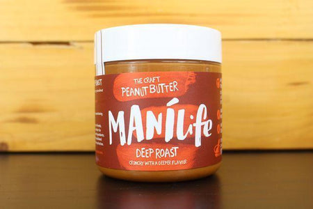 Manilife Manilife Deep Roast Crunchy Peanut Butter 295g Pantry > Nut Butters, Honey & Jam