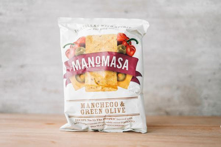 Manomasa Manchego & Olive Corn Chip 160g Pantry > Cookies, Chips & Snacks