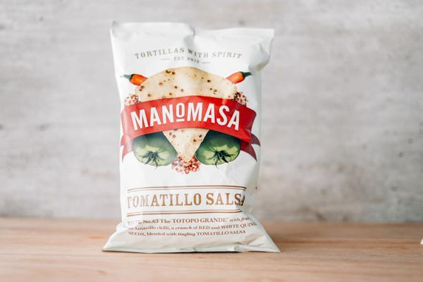 Manomasa Tomatillo Salsa Corn Chip 160g Pantry > Cookies, Chips & Snacks