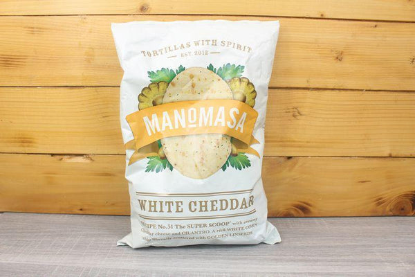 Manomasa White Cheddar Tortilla Corn Chip 160g Pantry > Chips & Savoury Snacks