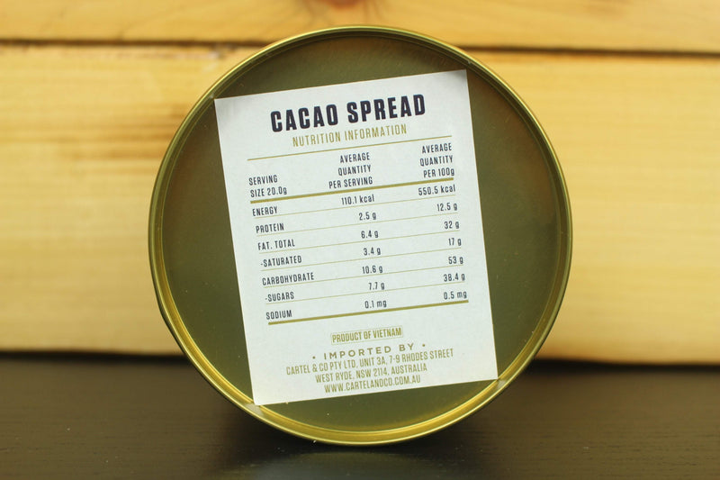 Marou Provisions Marou Cacao Spread 250g Tin Pantry > Nut Butters, Honey & Jam