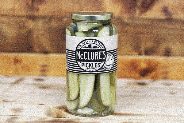 McClure's Garlic & Dill Pickle Spears 907g Pantry > Antipasto, Pickles & Olives