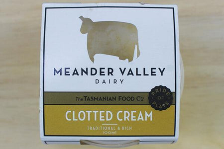 Meander Valley Meander Valley Clotted Cream 100ml Dairy & Eggs > Other Creams & Cheeses