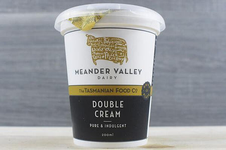 Meander Valley Meander Valley Double Cream 200ml Dairy & Eggs > Other Creams & Cheeses