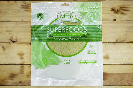 MEB Foods Organic Kale Chia & Broccoli Wraps Bakery > Wraps