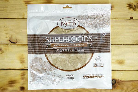 MEB Foods Organic Oats, Amaranth, Cacao Wraps Bakery > Wraps