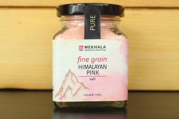 Mekhala Himalayan Pink Salt Fine 220g Pantry > Baking & Cooking Ingredients