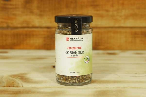 Mekhala Organic Coriander Seeds 35g Pantry > Baking & Cooking Ingredients