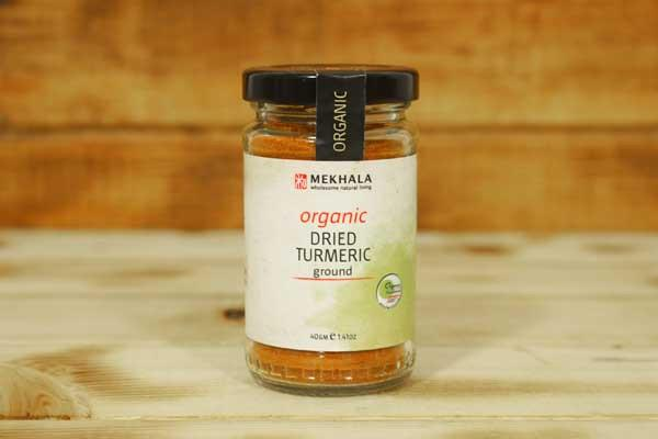 Mekhala Organic Dried Turmeric (Ground) 40g Pantry > Baking & Cooking Ingredients